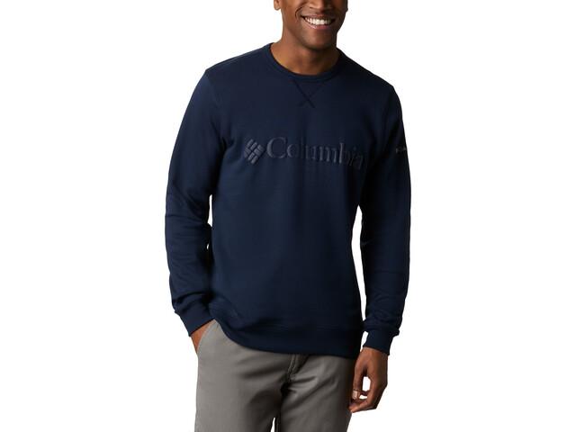 Columbia Logo Fleece Rundhals Sweater Herren collegiate navy puff logo